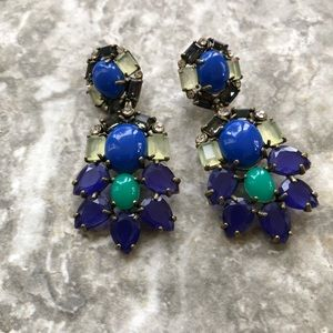 Stella & Dot Peacock Blue Earrings
